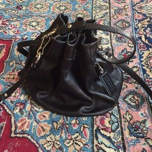 Black COACH Bucket Bag